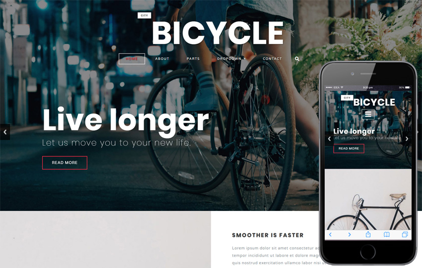 City Bicycle a Product ad Bootstrap Responsive Web Template
