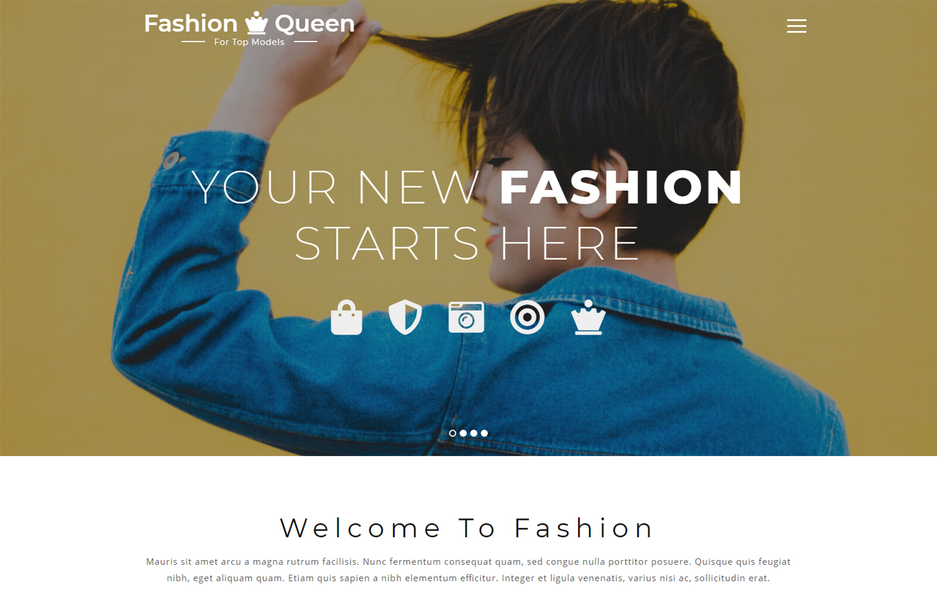 Fashion Queen Fashion Category Bootstrap Responsive Web Template