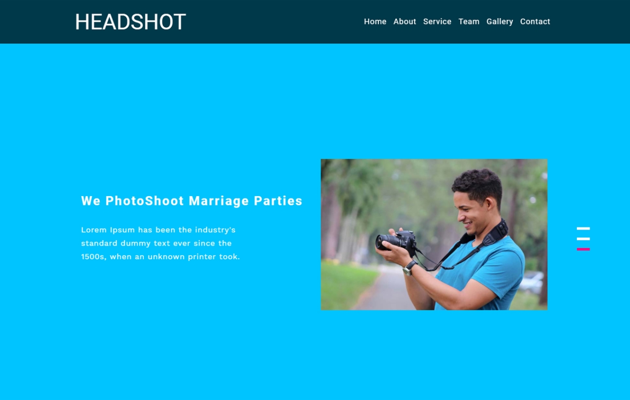 Headshot Photo Gallery Category Bootstrap Responsive Web Template