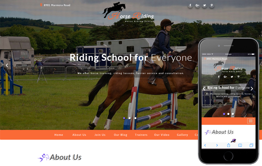 Horse Riding Sports Category Bootstrap Responsive Web Template