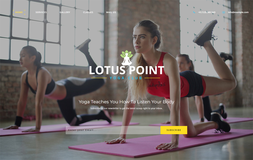 Lotus Point Sports Category Bootstrap Responsive Web Template