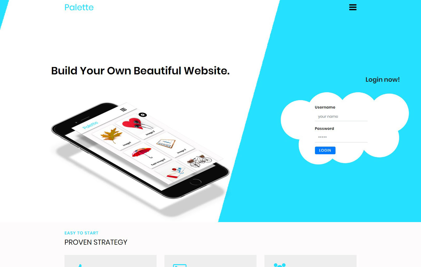 Palette a Multipurpose Bootstrap Responsive Template