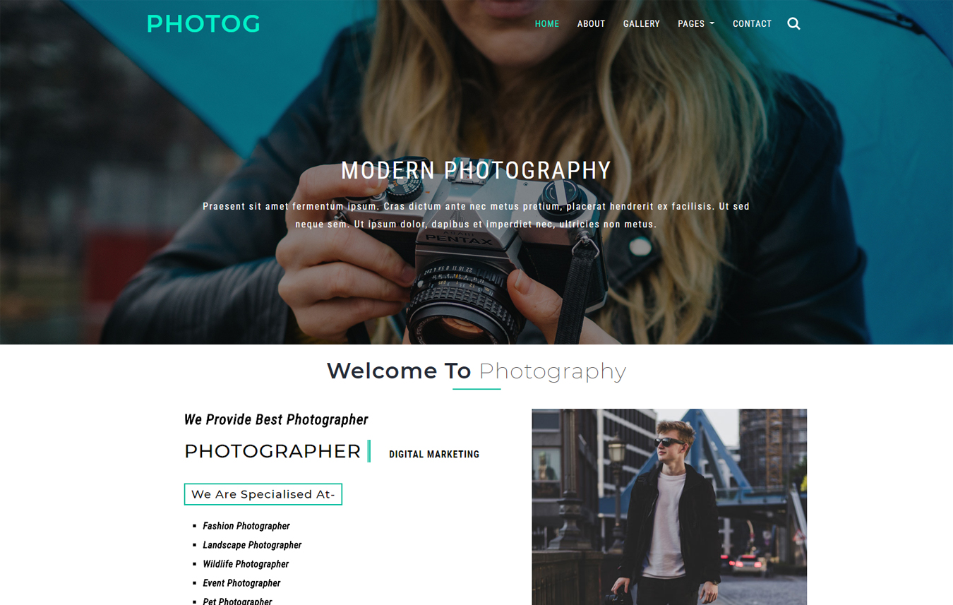 Photog a Photo Gallery Category Bootstrap Responsive Web Template