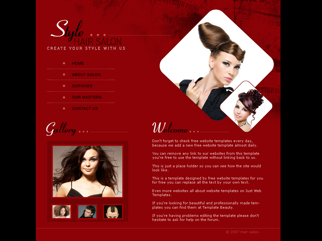 hair salon templates