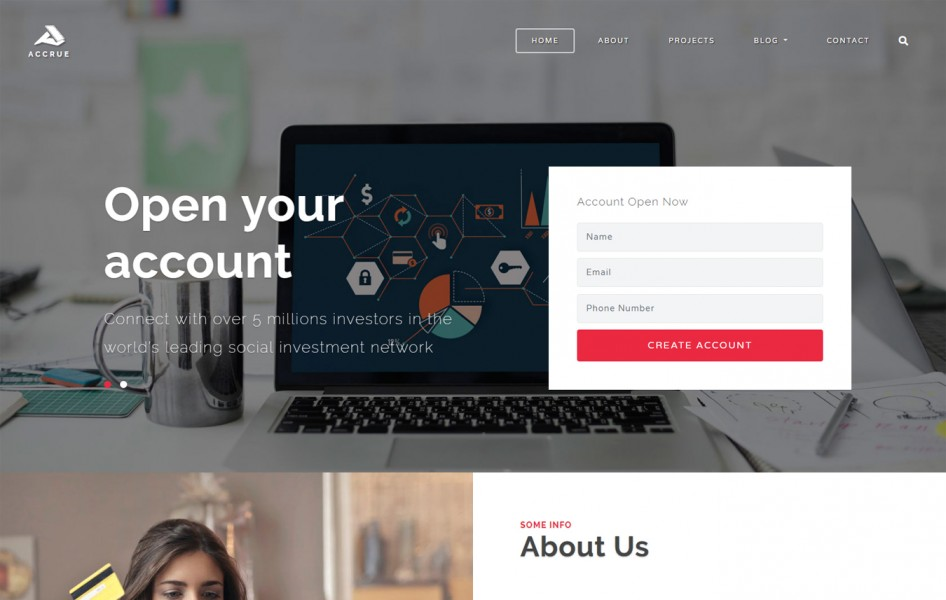 Accrue Corporate Category Bootstrap Responsive Web Template
