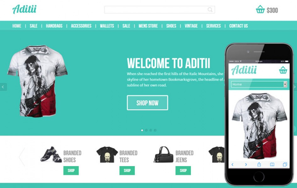 Aditii a Flat E-Commerce Responsive Web Template