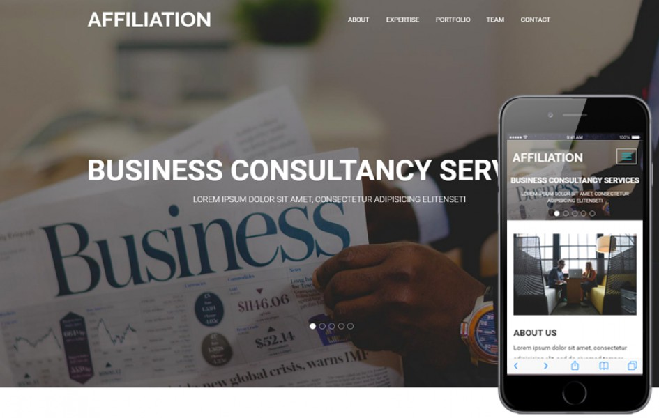 Affluence a Corporate Category Flat Bootstrap Responsive Web Template