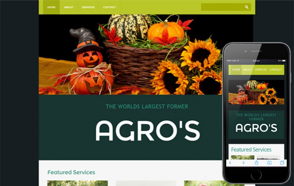 Agro - An Agriculture Mobile Website Template