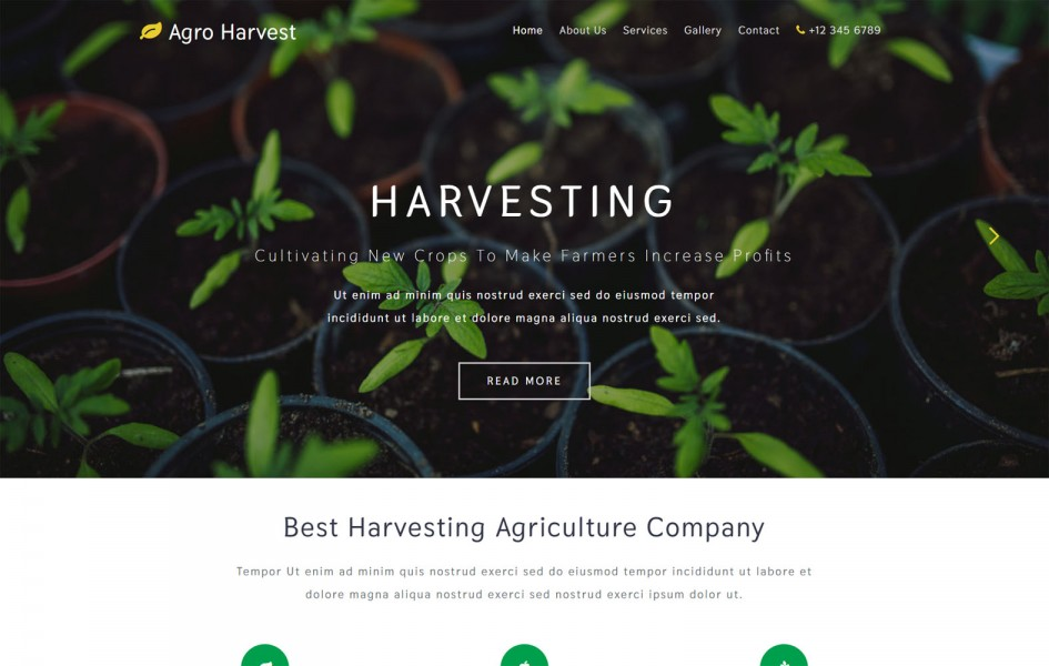 Agro Harvest an Agriculture Category Bootstrap Responsive Web Template