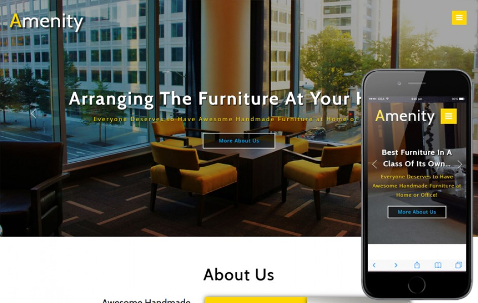 Amenity Interior Category Bootstrap Responsive Web Template