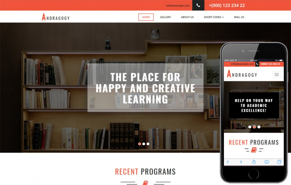 Andragogy an Education Category Bootstrap Responsive Web Template