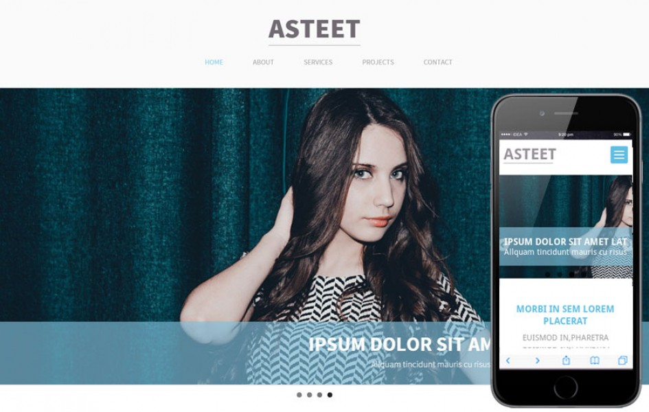 Asteet a Single Page Multipurpose Flat Bootstrap Responsive Web Template
