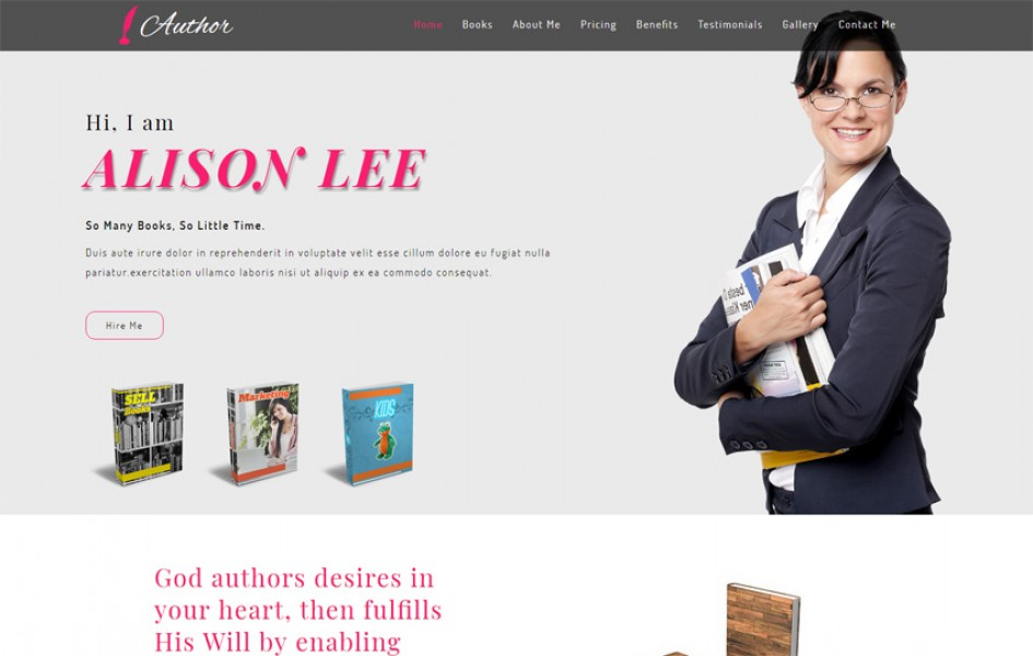 Author Personal Category Bootstrap Responsive Web Template