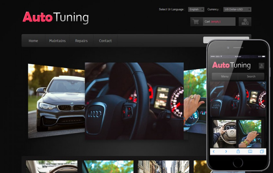 Auto Tuning Automobile Mobile Website Template