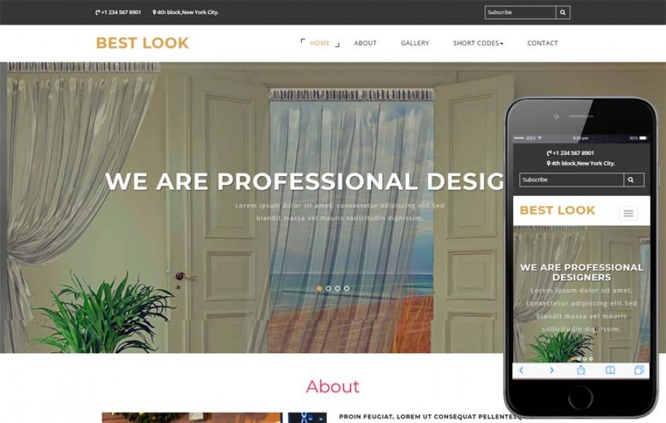 Best Look Interior Category Bootstrap Responsive Web Template