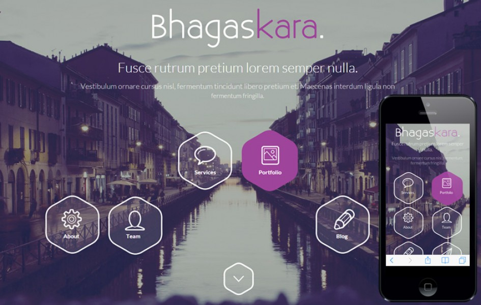 Bhagaskara a One Page Multi Purpose Flat Bootstrap Responsive Web Template