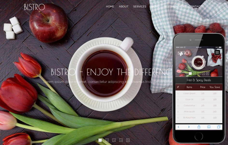 Bistro a Restaurants Category Flat Bootstrap Responsive Web Template