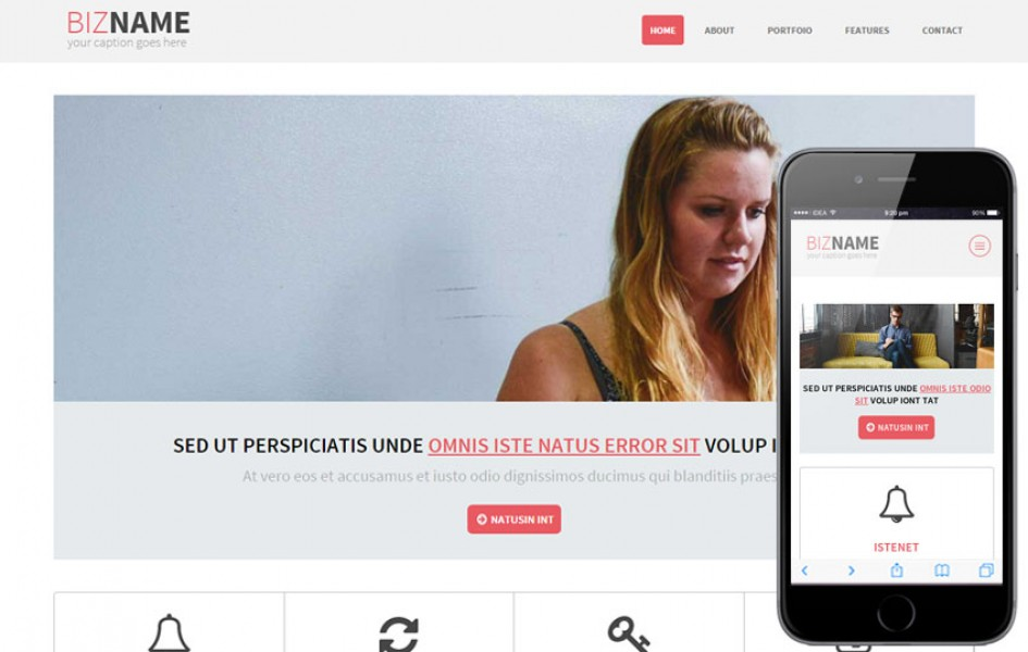 Bizname a Multipurpose Flat Bootstrap Responsive Web Template