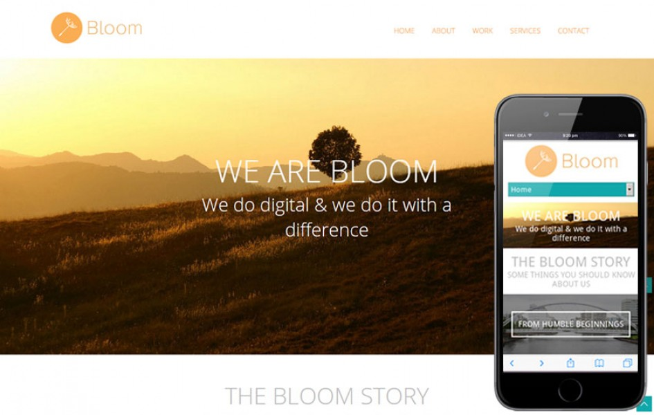 Bloom Portfolio Single Page Responsive Web Template