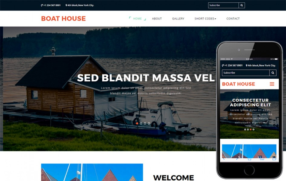 Boat house a Travel Category Bootstrap Responsive Web Template