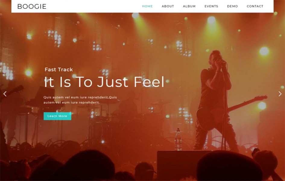 Boogie Entertainment Category Bootstrap Responsive Web Template