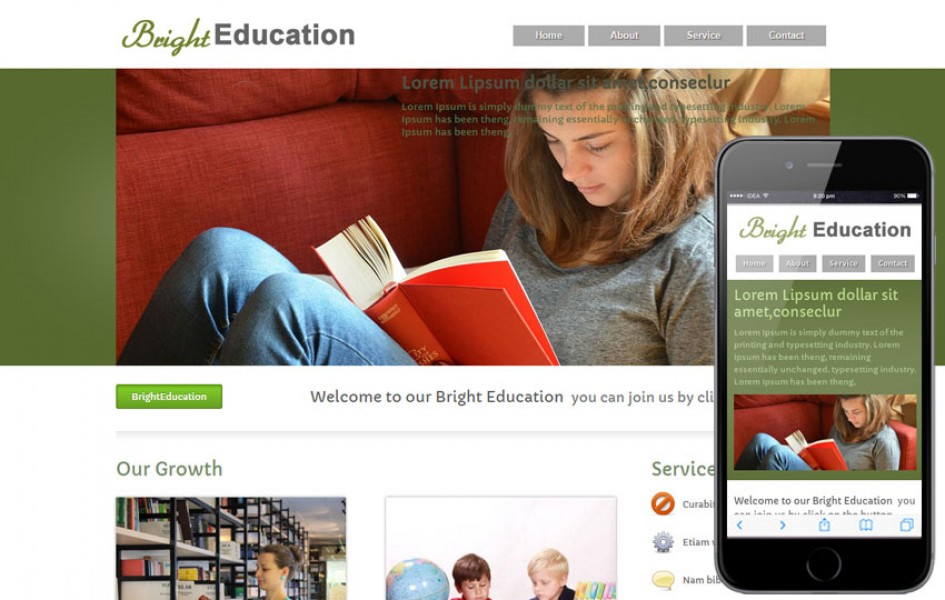 Bright Education Web and Mobile Template for Educational Institutions