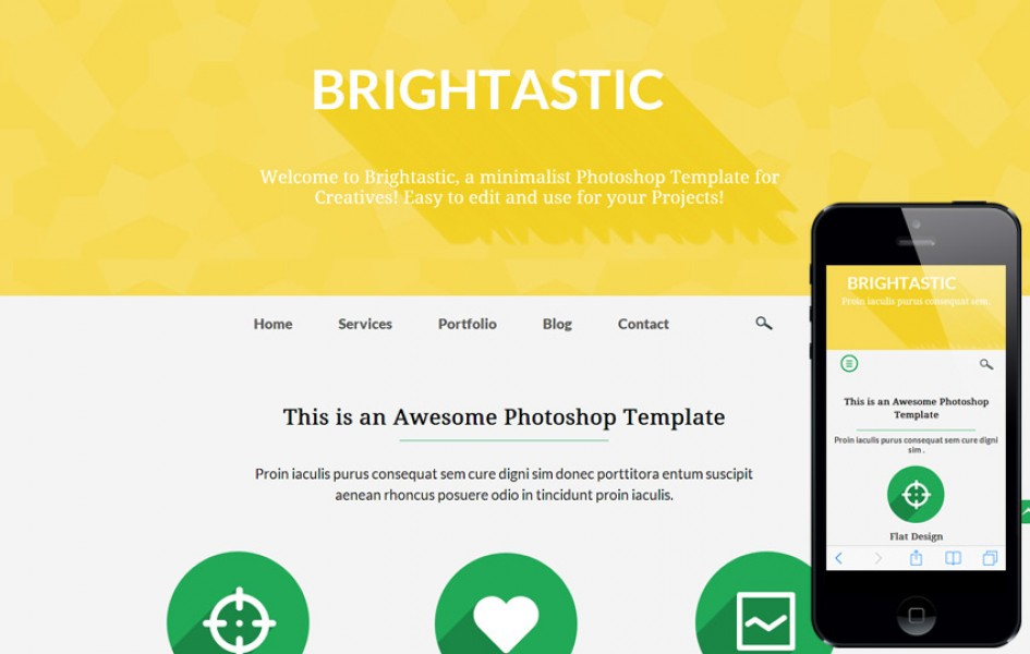 Brightastic a Personal Portfolio Flat Bootstrap Responsive Web Template