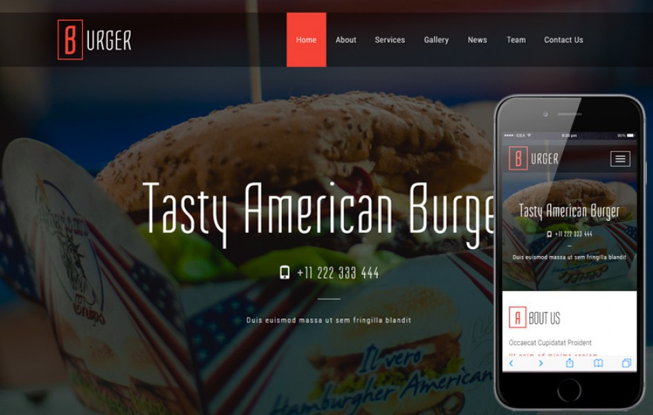 Burger a Restaurant Category Bootstrap Responsive Web Template