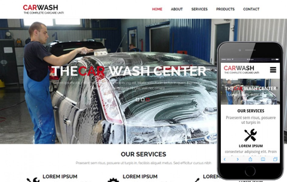 Car Wash a Auto Mobile Category Flat Bootstrap Responsive Web Template