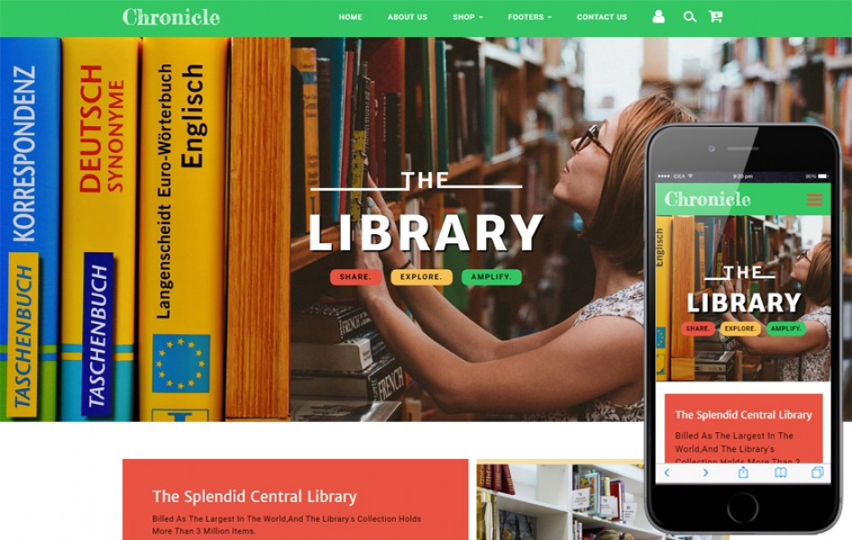 Chronicle Education Category Bootstrap Responsive Web Template