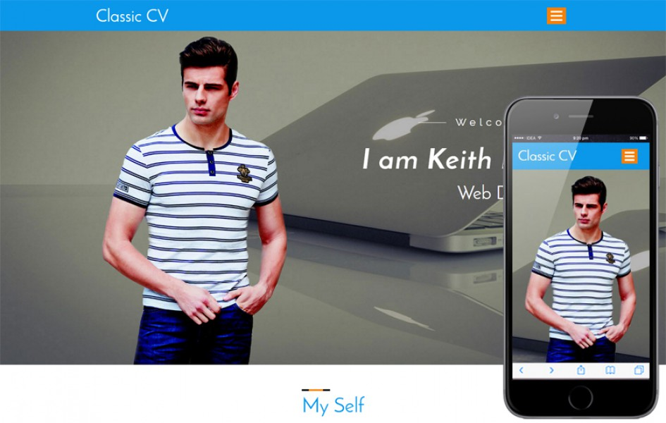 Classic CV a Personal Category Bootstrap Responsive Web Template