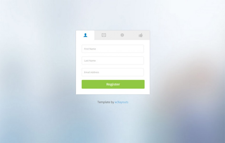 Clean Classy Registration Form Web Template