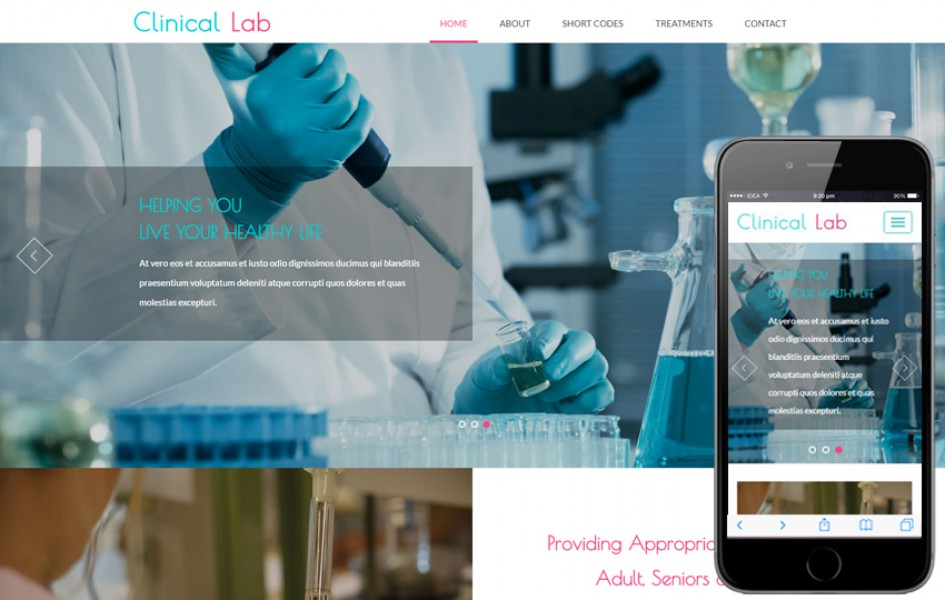 Clinical Lab a Medical Category Flat Bootstrap Responsive Web Template