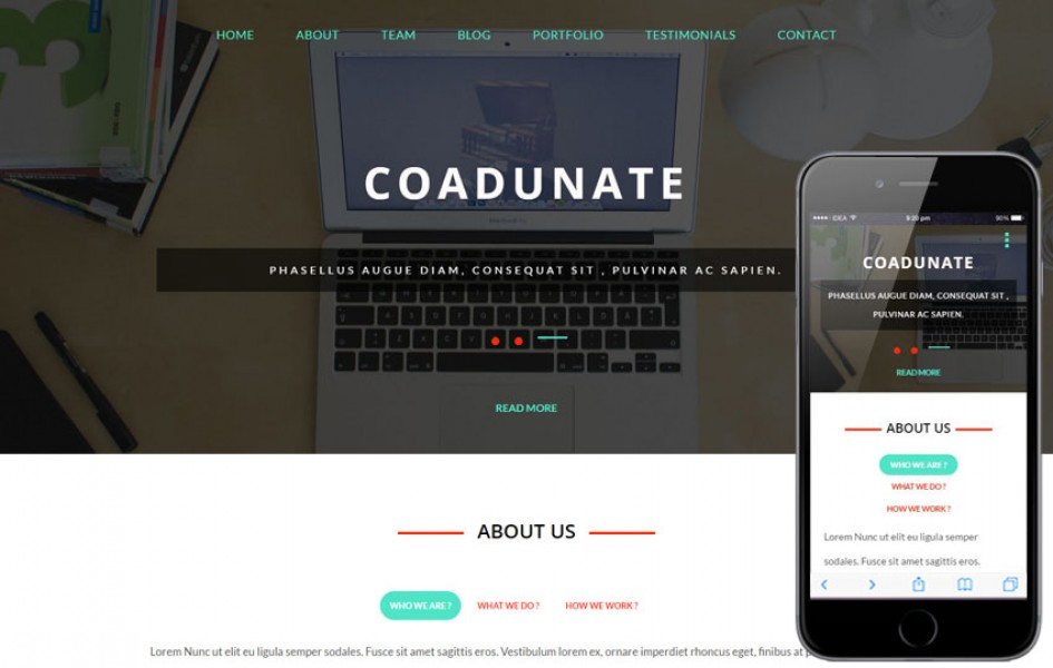 Coadunate a Corporate Business Category Flat Bootstrap Responsive Web Template