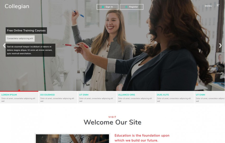 Collegian Education Category Bootstrap Responsive Web Template