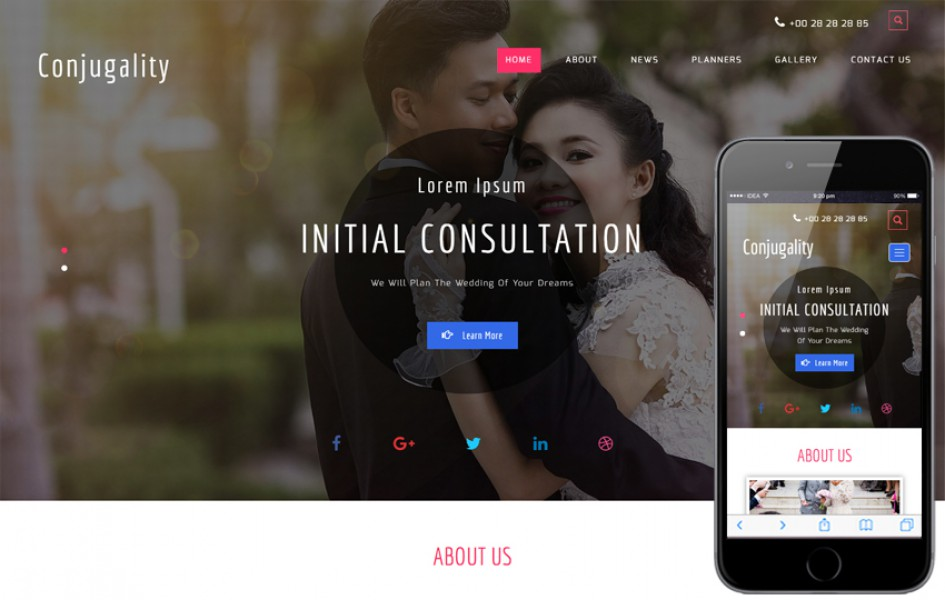 Conjugal a Wedding Flat Bootstrap Responsive Web Template -1