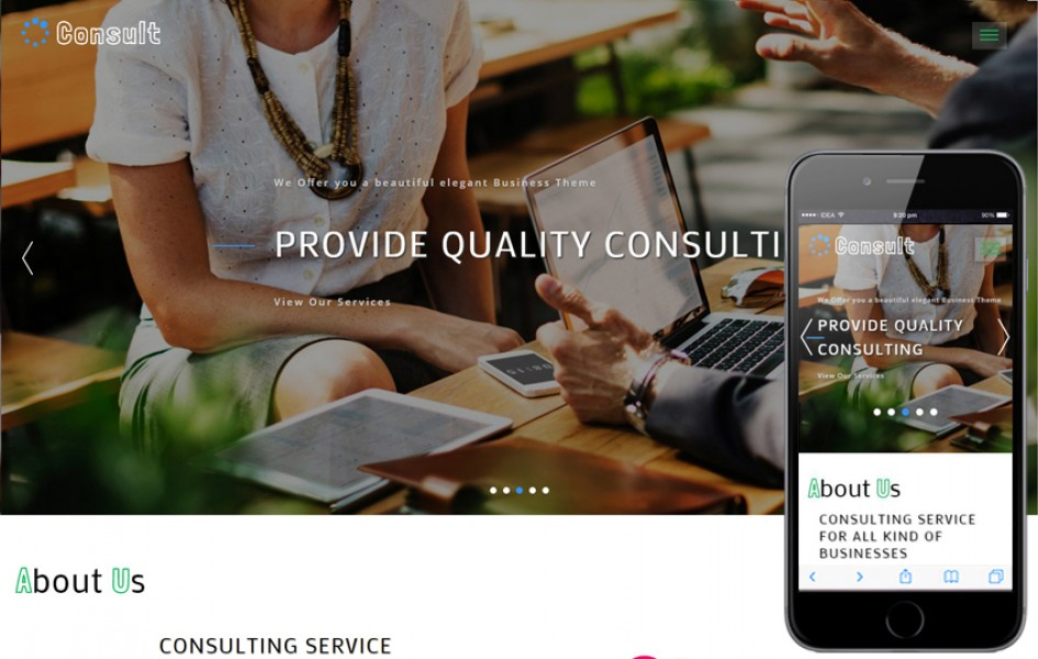 Consult Corporate Category Bootstrap Responsive Web Template