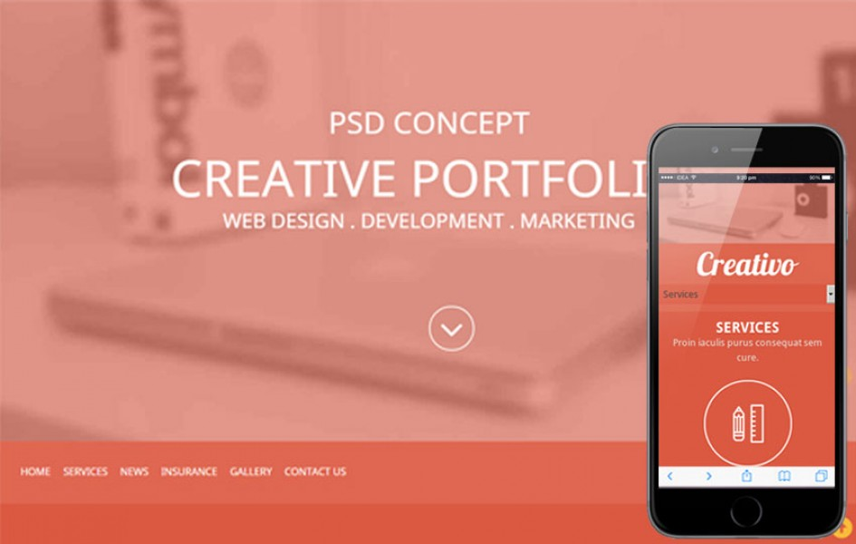 Creativo a Corporate portfolio Flat Responsive Web Template