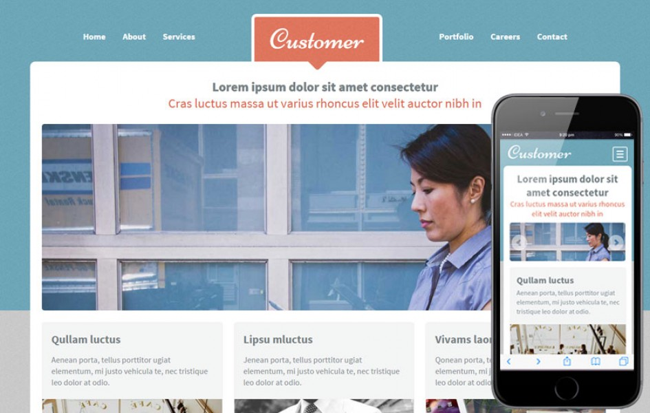 Customer a Corporate Portfolio Flat Bootstrap Responsive Web Template