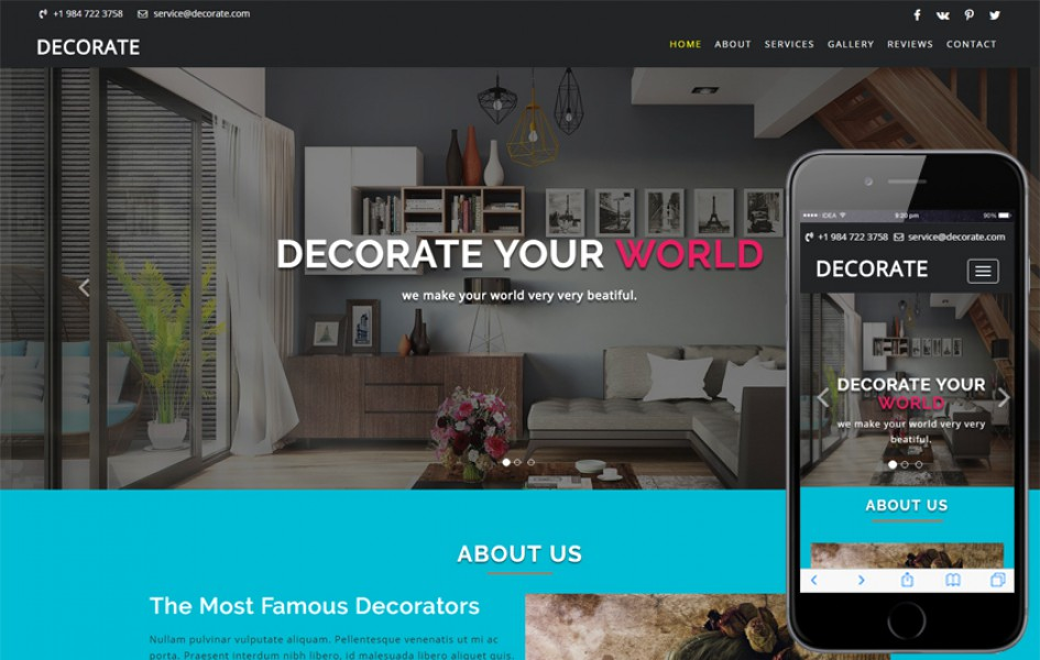 Decorate an Interior Category Bootstrap Responsive Web Template
