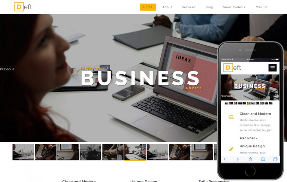 Deft a Corporate Category Bootstrap Responsive Web Template
