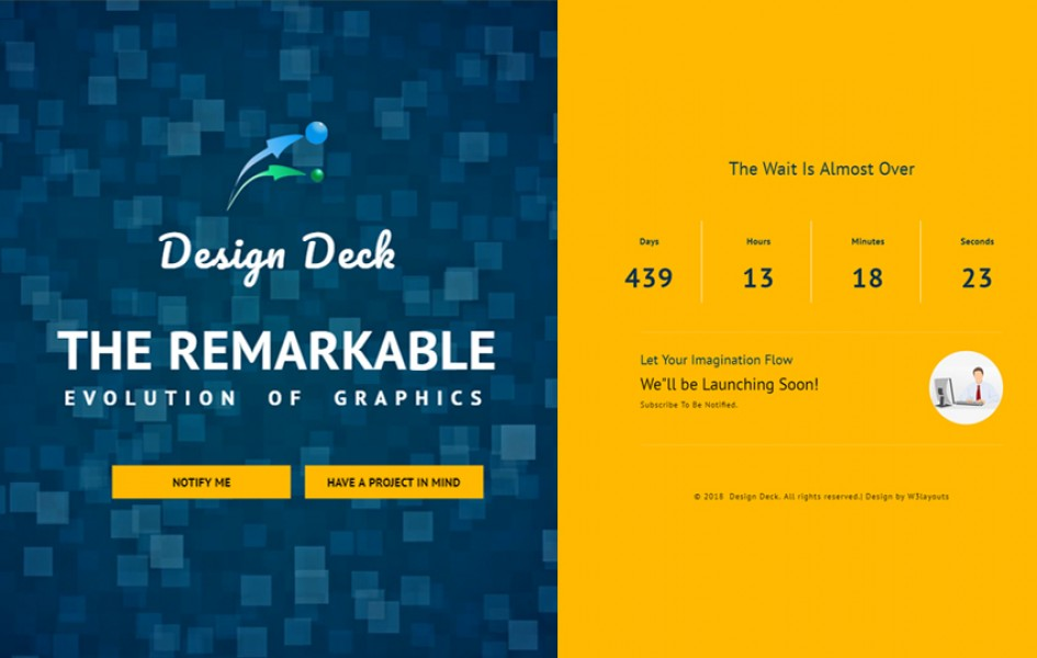 Design Deck Flat Responsive Widget Template