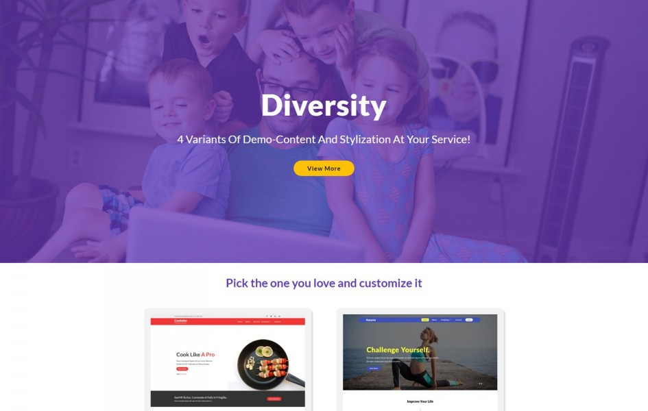 Diversity – Multipurpose Flat Bootstrap Responsive Web Template