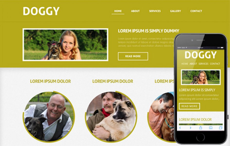 Doggy Mobile Website Template