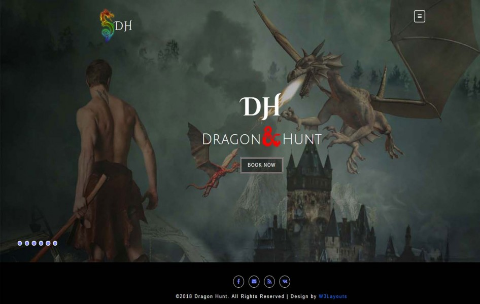 Dragon Hunt a Games Category Bootstrap responsive Website Template