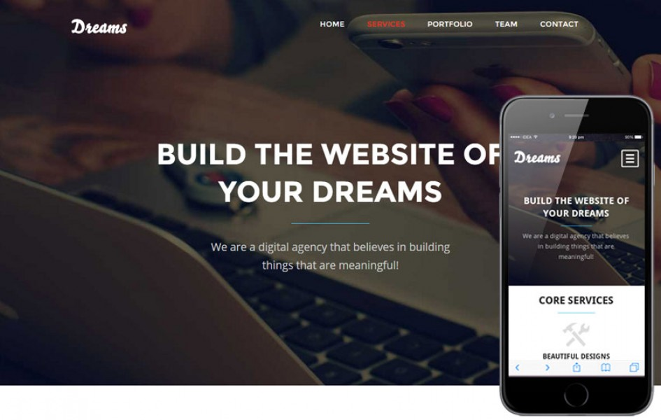 Dreams a Single Page Multipurpose Flat Bootstrap Responsive Web Template