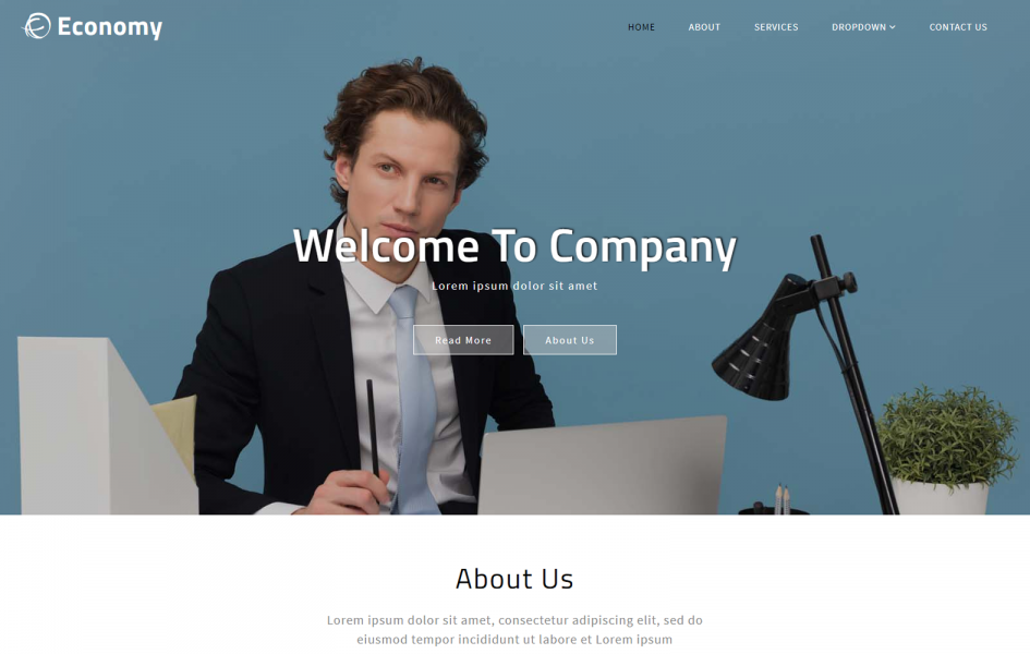 Economy – Business Category Bootstrap Responsive Web Template
