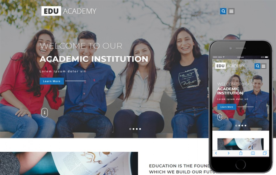 Edu Academy Education Category Bootstrap Responsive Web Template