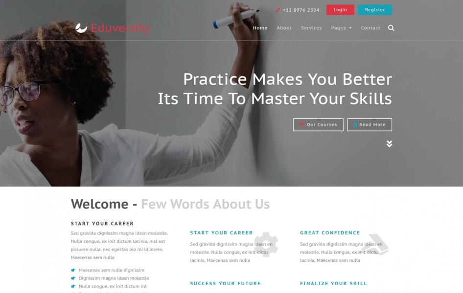 Eduversity Education Category Bootstrap Responsive Web Template