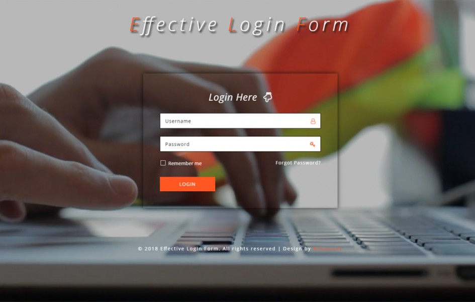 Effective Login Form Responsive Widget Template